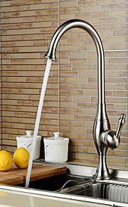 Banheira e Chuveiro Single Handle Uma Abertura in Níquel Escovado Torneira pia do banheiro