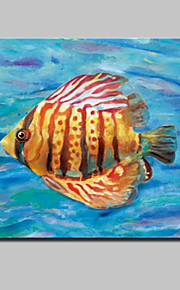 Lager Handpainted Modern Glofish Oil Painting On Canvas Wall Art For Living Room Home Decor Wall Paintings Whit Frame