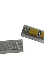 Mini Cooper 2pcs BM-W llevó la licencia de alumbrado de la placa 14w 12v llevado con decodificador llevada especial
