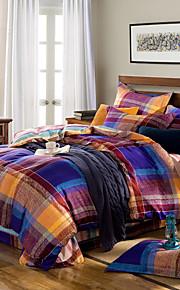 100% des ensembles de couverture de coton 4pc mode bien conçu de couette, reine / king size