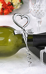 Tuxedo Heart Corkscrew Wedding Favors