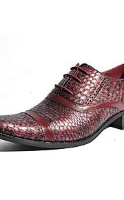 Chaussures Hommes Mariage / Bureau & Travail / Habillé / Décontracté / Soirée & Evénement Noir / Rouge Matières Personnalisées Richelieu