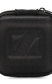klassiek zwart eva 1pc hoofdtelefoon oordopjes dragen opbergtas pouch harde case voor oortelefoon 8 * 8 * 4 cm