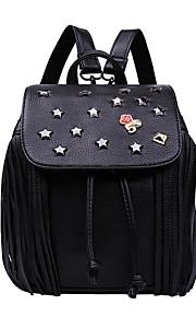 HOWRU® Women 's PU Backpack/Tote Bag/Leisure bag/Travel Bag-Black