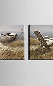 mini e-home oljemaleri moderne shore landskapet ren hånd trekke rammeløs dekormaling