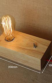 נורות שולחן עבודה מגן עין מודרני/עכשווי עץ/במבוק