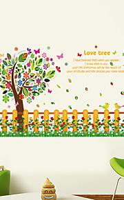 Wall Stickers Wall Decals Style Bamboo Fence The Tree PVC Wall Stickers