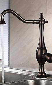 סט מרכזי חור ידית אחת אחת with Oil-rubbed Bronze ברז מטבח