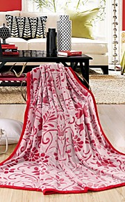 All Season Collection Soft Flannel Floral Pattern Blanket Multi-size