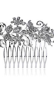 Mulheres Pérola / Strass / Crostal / Liga Capacete-Casamento / Ocasião Especial / Casual Pentes de Cabelo 1 Peça Branco Redonde 9.3*6.5cm