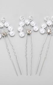 Dame / Blomsterpige Rhinestone / Legering / Imitert Perle Headpiece Bryllup / Spesiell Leilighet Hårspenne Bryllup / Spesiell Leilighet3