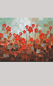 Hand-Painted Modern Thick Flower Oil Painting Wall Art Home Office Decor With Stretched Frame