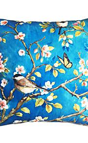 New Design Print Blue Bottom Birds Decorative Throw Pillow Case Cushion Cover for Sofa Home Decor Soft Material