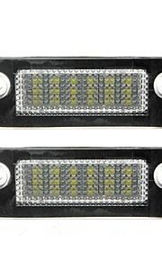 2pcs f-ord m-K5 / mondeo llevó matrícula de la lámpara 14w llevado 3528smd con decodificador llevada especial