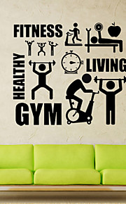 Wall Stickers Wall Decals Style Gym Healthy Lifestyle PVC Wall Stickers