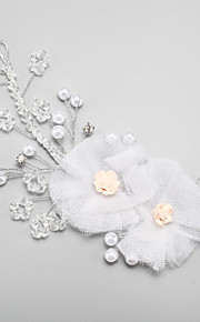 Women's / Flower Girl's Crystal / Alloy / Imitation Pearl Headpiece-Wedding / Special Occasion Headbands 1 Piece