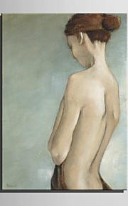 ミニサイズe-ホーム油絵現代女性純粋な手は、フレームレス装飾画を描きます