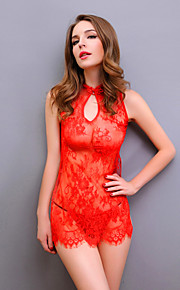 Women Sexy Thin Lace Lingerie Nightwear,Lace / Polyester