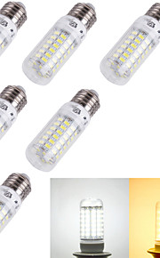 4W E14 / E26/E27 Ampoules Maïs LED T 69 SMD 5730 240 lm Blanc Chaud / Blanc Froid Décorative AC 100-240 / AC 110-130 V 6 pièces