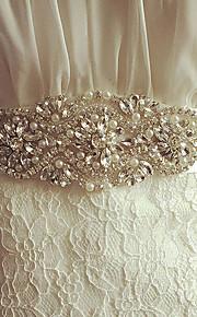 Satin Mariage / Fête/Soirée Ceinture-Cristal / Imitation de perle Femme 250cm Cristal / Imitation de perle