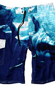 Shorts de Bain Pour des hommes Fleur Mélanges de Coton / Nylon