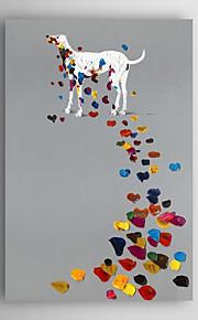 håndmalte oljemaleri dyr shake shake hund med strukket ramme 7 veggen arts®