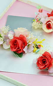 Women's / Flower Girl's Fabric Headpiece-Wedding / Special Occasion / Outdoor Flowers 3 Pieces