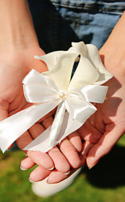 Wedding PE Calla Flowers Free-form Roses / Peonies Boutonnieres Brooch