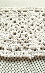 20pcs/lot 10cm Square Pastoral Style Placemat Table Mat Hand DIY Accessory Flower Crochet Cotton Cup Pads