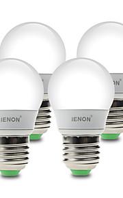 3W E26/E27 Ampoules Globe LED G60 6 SMD 210-240 lm Blanc Chaud / Blanc Froid Décorative AC 100-240 V 4 pièces