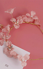 Women's Rhinestone / Brass / Imitation Pearl / Fabric Headpiece-Wedding / Special Occasion / Outdoor Headbands 1 Piece