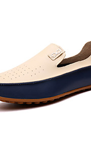 Men's Shoes Nappa Leather Office & Career / Casual Flats Office & Career / Casual Flat Heel Blue / Beige