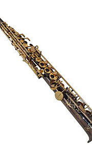 The high and straight Black nickel soprano saxophone