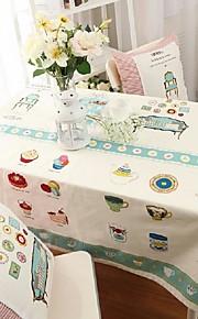 cartoon patroon tafelkleed mode hotsale hoogwaardige katoen vierkante salontafel hoes van textiel handdoek