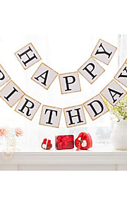 Happy Birthday Vintage Bunting Banner Birthday Photo Booth Prop Party Sign