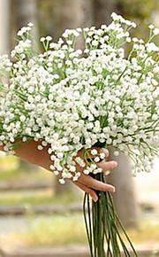 Set of 6 Wedding Babysbreath Flowers Bouquets for Lady (High:60cm,120 Heads/pcs)