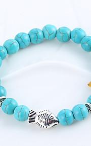 Natural Stone Turquoise Blue Matte Black Agate Elastic Bracelet Hand String Of Prayer Beads Whitebait Bracelets