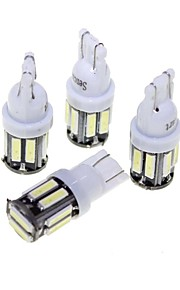 BA9S T10 5W LED Car Clearance Lamp White Light 6000K 400lm SMD 7020 Decoding Error-Free (4PCS/DC 12V)