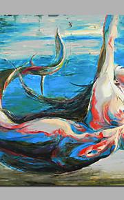50x50cm (20x20inch) nude merenneito käsinmaalatut kuvitus kankaalle paareilla