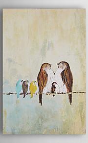håndmalte oljemaleri dyr familie av fugler med strukket ramme 7 veggen arts®