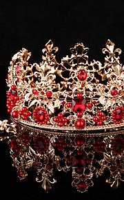 Donne Cristalli / Lega / Perle false Copricapo-Matrimonio / Occasioni speciali / All'aperto Tiare 2 pezzi