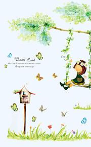 Животные / ботанический / Мультипликация / Слова и фразы / Натюрморт / Мода / Цветы / Пейзаж / Отдых Наклейки Простые наклейки,PVC