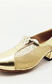 Sapatos de Dança(Dourado) -Feminino-Personalizável-Latina
