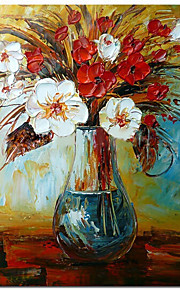 100% Handpainted Modern Beautiful Pot Flower Knife Oil Painting Home Decor Picture Abstraction Hang Picture