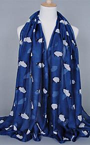 Voile Penguin Animal Pattern Printed Scarves Cotton Oversized Rectangular Shawl