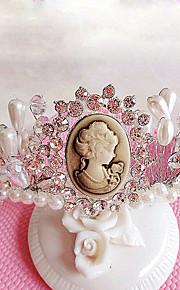 Donne / Bambina Strass / Perle false Copricapo-Matrimonio / Occasioni speciali / All'aperto Tiare 1 pezzo