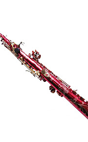 WSS-9553H red gold key drop B Soprano Saxophone,G key all flowers Sax