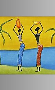 käsinmaalattu abstrakti afrikkalainen naiset öljymaalaus ravintola sisustus venytetty runko