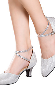 Sapatos de Dança(Marrom / Prateado / Cinza / Dourado) -Feminino-Não Personalizável-Latina / Tênis de Dança