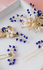 Donne Lega / Perle false Copricapo-Matrimonio / Occasioni speciali Fermacapelli 4 pezzi